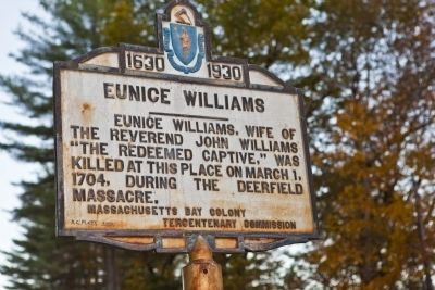 Eunice Williams Marker image. Click for full size.