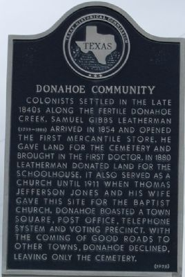 Donahoe Community Marker image. Click for full size.