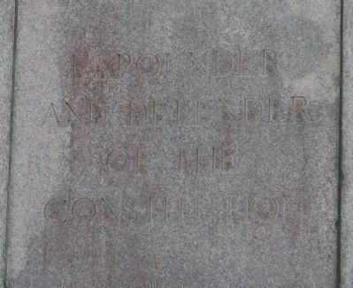 Daniel Webster Memorial - inscription on upper north face image. Click for full size.