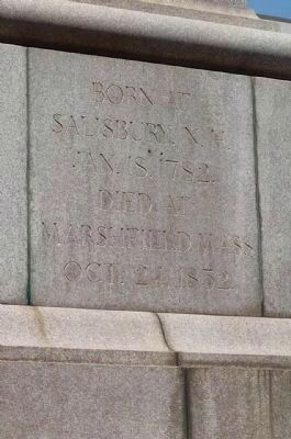 Daniel Webster Memorial - inscription on south face image. Click for full size.