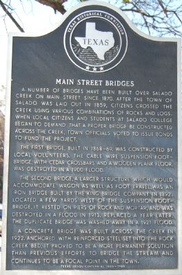 Main Street Bridges Marker image. Click for full size.