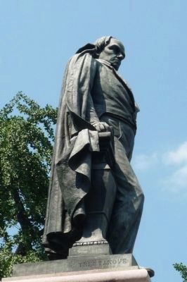 Daniel Webster Memorial: close-up of statue by sculptor/engineer Gaetano Trentanove image. Click for full size.
