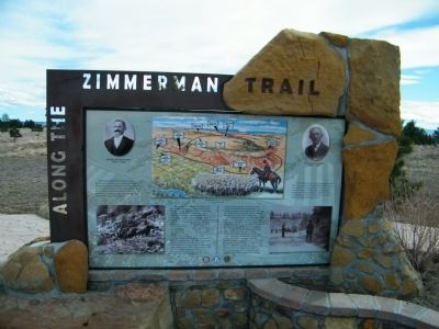 Along the Zimmerman Trail Marker image. Click for full size.
