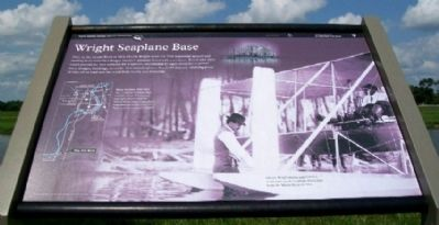 Wright Seaplane Base Marker image. Click for full size.