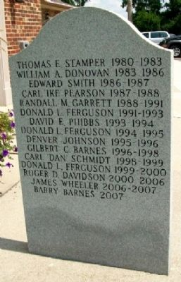 VFW Post 3438 Past Commanders Marker (Rear) image. Click for full size.
