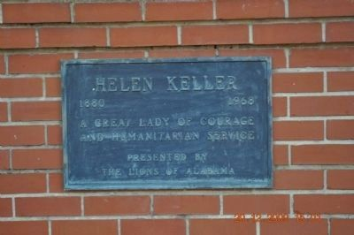 Helen Keller Plaque image. Click for full size.