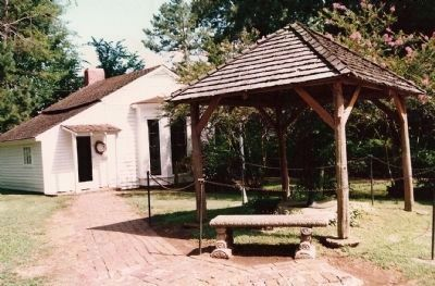 The Well Pump where Helen Keller first learned the word w-a-t-e-r. image. Click for full size.