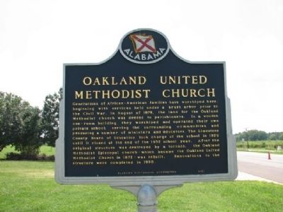 Oakland United Methodist Church Marker image. Click for full size.