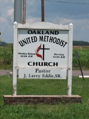 Oakland United Methodist Church Sign image. Click for full size.