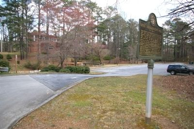 Site: Henderson's Mill Marker image. Click for full size.
