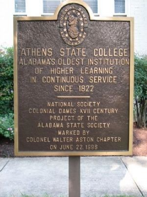 Athens Female Academy/Athens State College image. Click for full size.