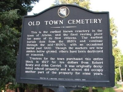 Old Town Cemetery Marker image. Click for full size.