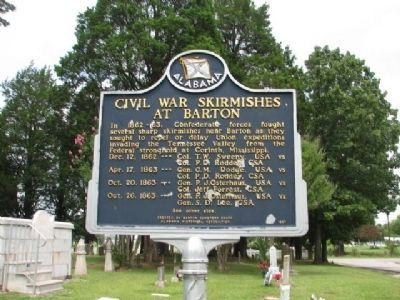 Civil War Skirmish at The Barton Cemetery Marker/side 2 image. Click for full size.