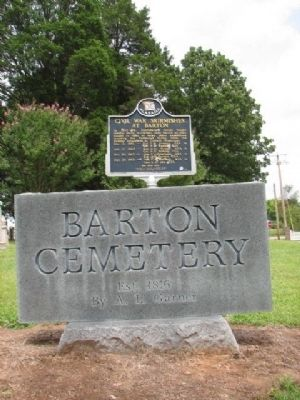 The Barton Cemetery Marker image. Click for full size.