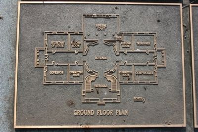 Ground Floor Plan of the Capitol. (The Architect Marker) image. Click for full size.