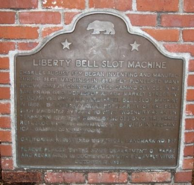 Liberty Bell Slot Machine Marker image. Click for full size.