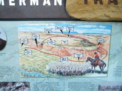 Along the Zimmerman Trail Marker - Map closeup image. Click for full size.