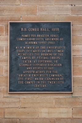 B.B. Comer Hall, 1908 Marker image. Click for full size.