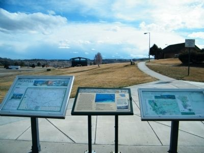 The Great Inland Seaway Marker at Columbus Rest Area along westbound I-90 image. Click for full size.