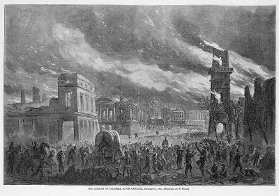 Burning of Columbia image. Click for full size.