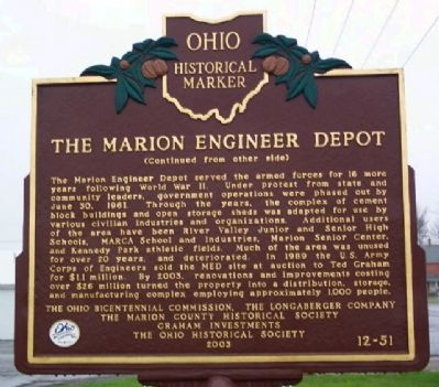 The Marion Engineer Depot Marker (Side B) image. Click for full size.