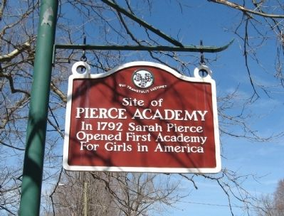 Site of Pierce Academy Marker image. Click for full size.