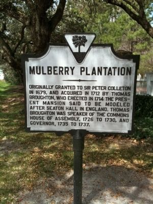 Mulberry Plantation Marker image. Click for full size.