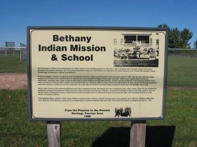 Bethany Indian Mission & School Marker image. Click for full size.