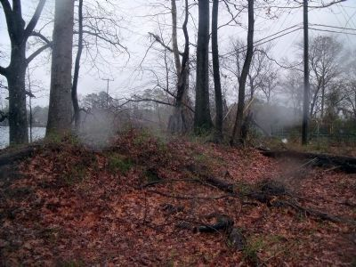 The only remaining earthwork from the Battle of Big Bethel image. Click for full size.