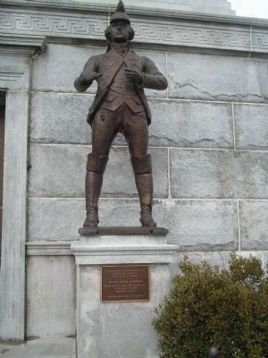 Marker on the Trenton Battle Monument image. Click for full size.