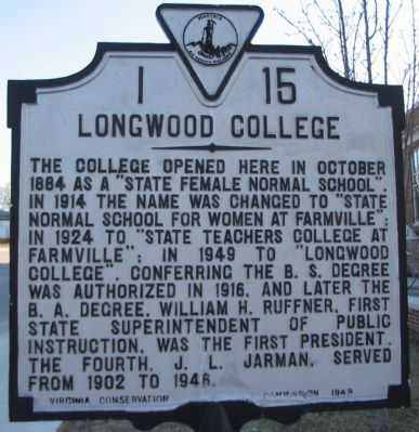Longwood College Marker image. Click for full size.