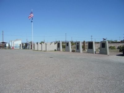 Monument Row, Bouse, Arizona image. Click for full size.