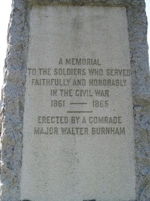A Memorial To The Soldiers Who Served image. Click for full size.