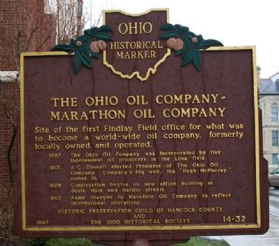 The Ohio Oil Co-Marathon Oil Co Marker (Side A) image. Click for full size.