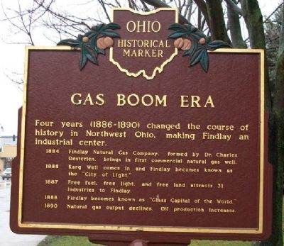 Gas Boom Era Marker (Side B) image. Click for full size.