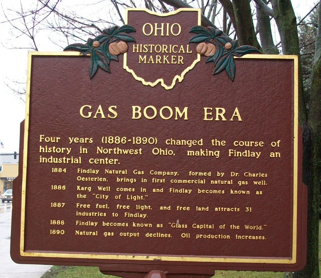 Gas Boom Era Marker (Side B)
