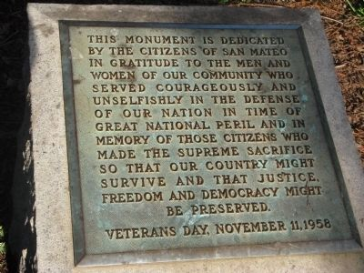Central Park Veterans Memorial Marker image. Click for full size.