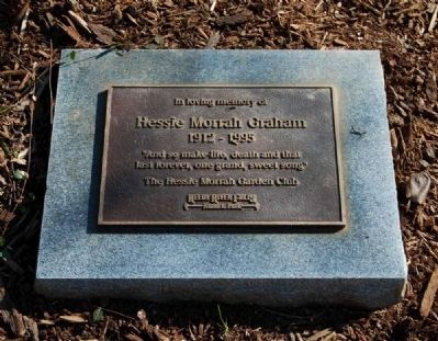Hessie Morrah Graham Marker<br>Located on the Walkway Leading<br>from Cottage Patio to Main Street image. Click for full size.