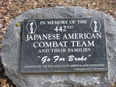 Central Park Veterans Memorial – Japanese-American Combat Team Marker image. Click for full size.