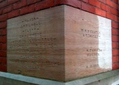 Pemberville Town Hall and Opera House Cornerstone image. Click for full size.