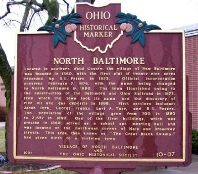 North Baltimore Marker (Side A) image. Click for full size.