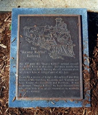 "The ""Swamp Rabbit"" Railroad Marker image. Click for full size."