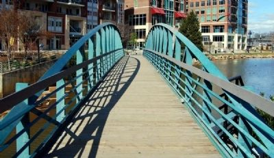 "The ""Swamp Rabbit"" Pedestrian Bridge image. Click for full size."