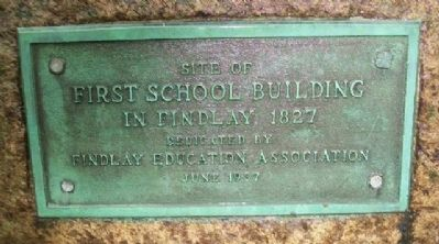 First School Building Marker image. Click for full size.