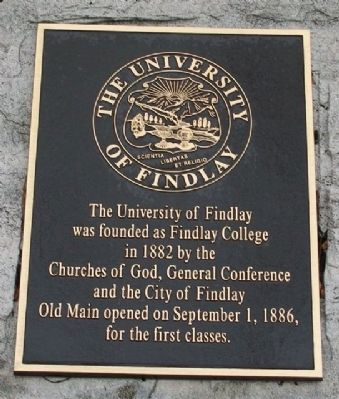 The University of Findlay Marker image. Click for full size.