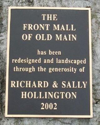 Front Mall of Old Main Marker image. Click for full size.
