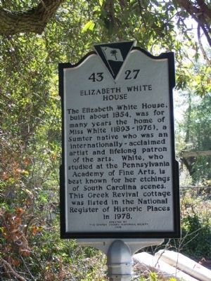 Elizabeth White House Marker image. Click for full size.