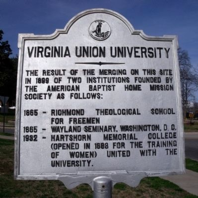 Virginia Union University Marker image. Click for full size.