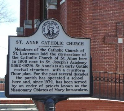 St. Anne Catholic Church Marker image. Click for full size.