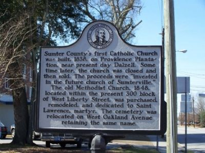 St. Anne Catholic Church Marker, reverse side image. Click for full size.